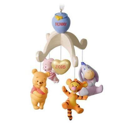 2016 Hallmark BABY'S FIRST Christmas Winnie the POOH mobile dated ORNAMENT
