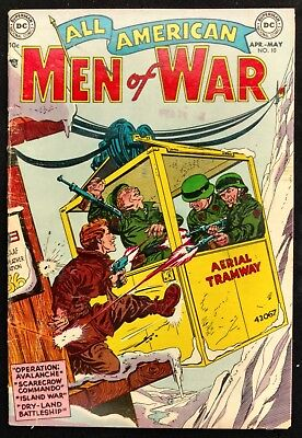 All-American Men Of War #10 Vg+  Nice Grandenetti,novick   4 Great Stories!