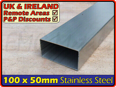 Stainless Steel Rectangular Tube ║ 100 x 50 mm ║ box section iron,profile,tubing