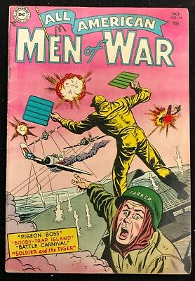 All American Men Of War #14 Bright Fn-- Nice Ad Our Fighting Forces #1 4 Storys