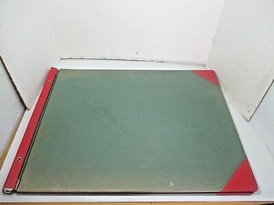 """Huge Vintage Western Bookbinding Co. Accounting Bookkeeping Ledger 25"""" x 19"""""""