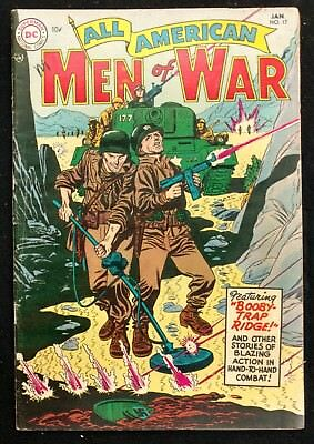 All-American Men Of War #17 1955 Nice Fn-- 4 Stories 1St Frogman Grandenetti Cov