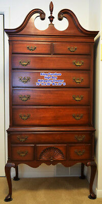 Dresser, 10 Drawers, Kling Queen Anne Highboy Style