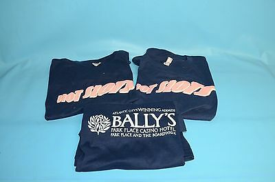 Never Worn !    (3) Bally's Park Place Casino  ' Hot Slots '  T Shirts