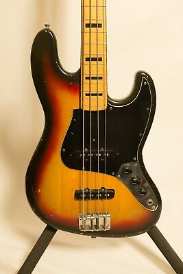 1973 Fender Jazz Bass - Three Tone Sunburst - RARE & VINTAGE - EXCELLENT!!