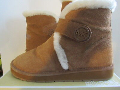 bf2381eb3dfa5 Michael Kors Suede Winter Ankle Booties Sheep Fur Lined - Women s Boots Sz  10 M