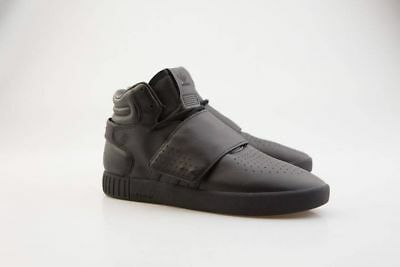 adf02b16e56a5 Adidas BW0871 Black Leather Tubular Invader Strap Yeezy Casual Sneakers  Shoes 10