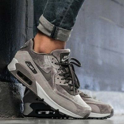 outlet store aad77 ac16a NIKE AIR MAX 90 LX GunsmokeAtmosphere Grey WOMENS SHOE COMFY LIFESTYLE  SNEAKER
