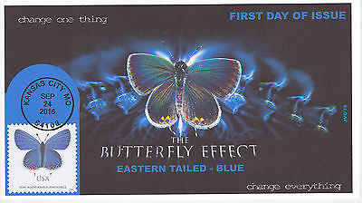 Jvc Cachets - 2016 Eastern Tailed - Blue First Day Cover Fdc Butterfly Design #1