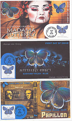 Jvc Cachets - 2016 Eastern Tailed - Blue First Day Cover Fdc Butterfly Set Of 3