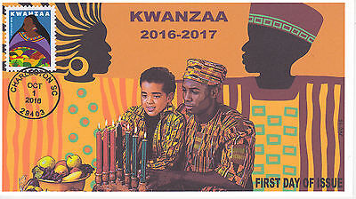 Jvc Cachets - 2016 Kwanzaa Issue First Day Cover Fdc Black Heritage Design #2