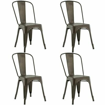 Awe Inspiring Tolix Style Metal Dining Chair Highback Stackable Cafe Side Machost Co Dining Chair Design Ideas Machostcouk