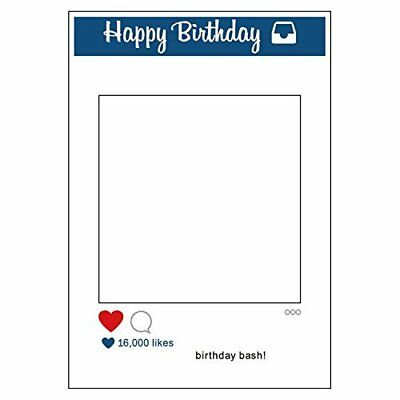 1 Piece Large Size Party Props Photo Booth Frame Happy Birthday Bash Kids Party
