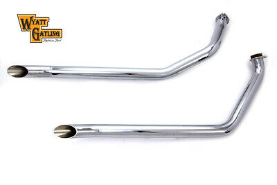 Exhaust Drag Pipe Set Slash Cut,for Harley Davidson motorcycles,by Wyatt Gatling