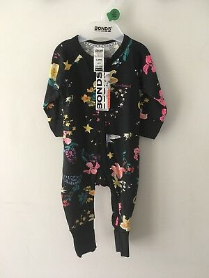 Bonds Baby Zip Wondersuit/babygrow Nwt Cooee Kids Deep Arctic All Sizes