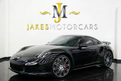 2014 Porsche 911 Turbo Coupe 2-Door 2014 Porsche 911 Turbo Coupe, Basalt Black, Carbon Fiber Interior Pkg, Pristine!