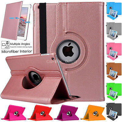 """360 Rotating Leather Smart Stand Case Cover For Apple iPad 9.7"""" 2017 5th Gen"""