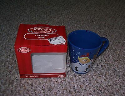 2 Zak Blue Rudolph The Red-Nosed Reindeer Hermey Ceramic Mugs In Box
