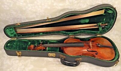 Antique Violin Jacobus Stainer Model w/ Nice 8 Sided German Bow & Case 1636