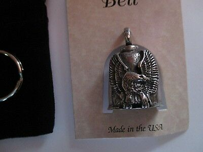 Upwing Eagle motorcycle Gremlin Bell - Pewter - Made in USA - biker rider