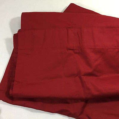 Linden Street 2 Blackout Panels Cranberry Red 42 X 84 Back Tab Drapes Curtains