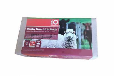 iO Hobby Farm Mineral Salt Lick Block, Supplement for Goats, Sheep & Cattle 2 Kg