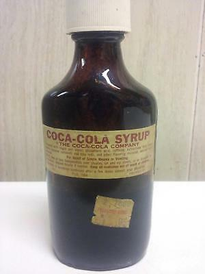 Coca-Cola  Syrup Old Pharmacy Bottle Collectible  (Cocaine Removed)