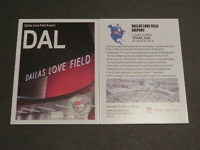 DAL Collectible Airport Trading Card Dallas Love Field-FREEshipping within US