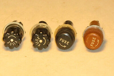 1 Lot Of 4 Vintage Littlefuse & Buss Fuse Holders For Audio & Other Equipment.