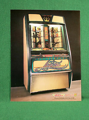 Original NOS Rock-Ola Anniversary Legend Jukebox Color Brochure Flyer
