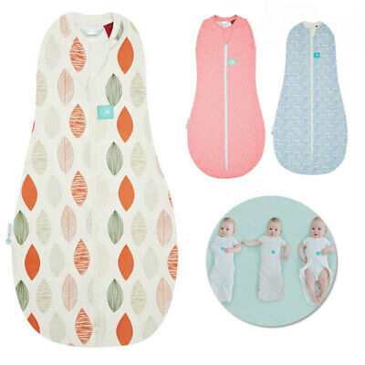 ergoPouch 1.0 TOG Baby Sleeping Bag Swaddle 0-3m/Organic Cotton Spring/Autumn