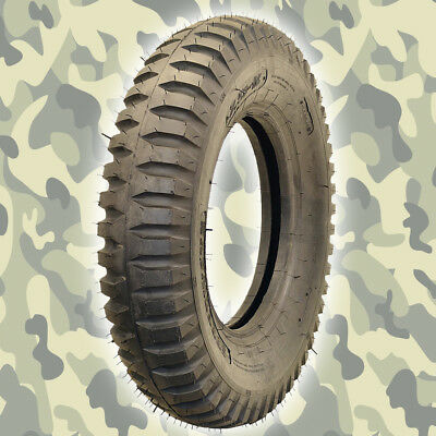 Military Jeep Tire Willys Trailer - 600x16 6ply - 5 tires with Inner Tubes