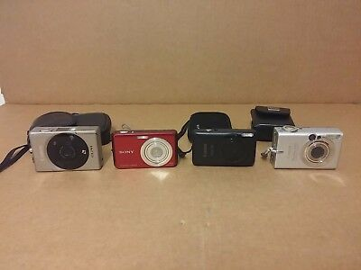 Lot of 4 Digital Cameras Canon,Sony