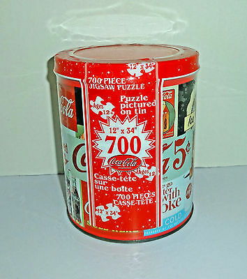 Coca Cola 700 piece Jigsaw Puzzle in Tin new
