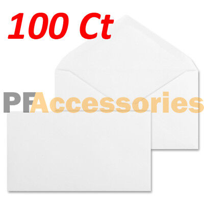100 Ct #6-3/4 Regular Plain White Letter Mailing Envelopes 3-5/8 x 6-1/2 inch