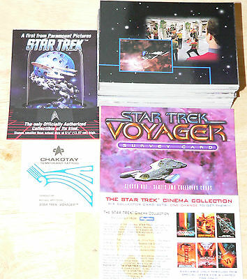 Star Trek Voyager Season 1 Series 2 with Survey Card complete base set by Skybox