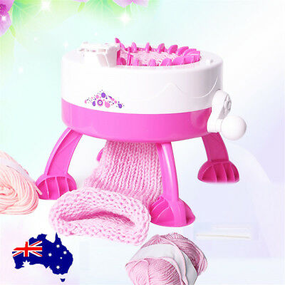 Mini Hand Knitting Machine Weaving Loom Knit for Scarf Hat Children 22 Needles