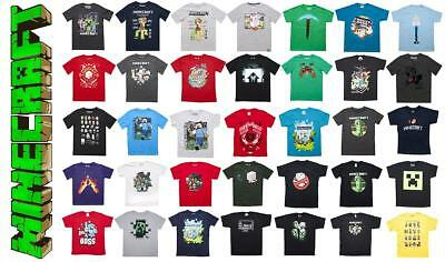 Boys Official Mojang Minecraft Enderman Creeper Assorted T-Shirt Tops 9-10 Years