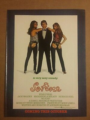 1981 So Fine Movie Ad Ryan Oneal Jack Warden Richard Kiel