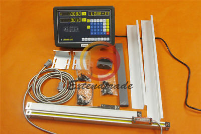2 Axis Digital Readout DRO Linear Scale for Milling Lathe Machine 300mm*2