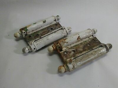 Two Antique Saloon Door Hinges Double Acting Spring