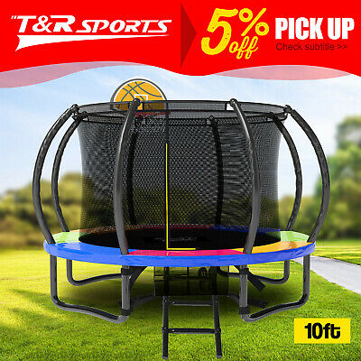 NEW PoP Master 4.5FT Kids Trampoline with Safety Net Pad Indoor Outdoor