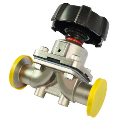 "1/2"" Stainless Steel 316L Tri-Clamp OD 25.2mm Sanitary Diaphragm valve Water Oil"