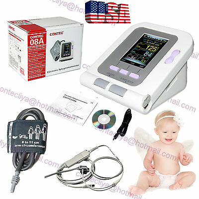US seller Neonate/Infant Blood Pressure Monitor CONTEC08A+SPO2 PR+Software+ CUFF