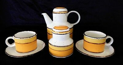 Midwinter Stonehenge, Sun, Tea set, cups saucers teapot sugar bowl