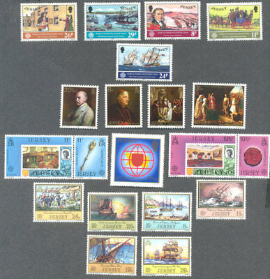 Jersey-Commemoratives-complete Year set 1983 - mnh excellent price-below face