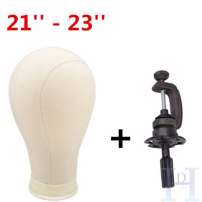 Professional Canvas Block Head Wigs Wig Making Hats Mannequin & Clamp Hair Salon