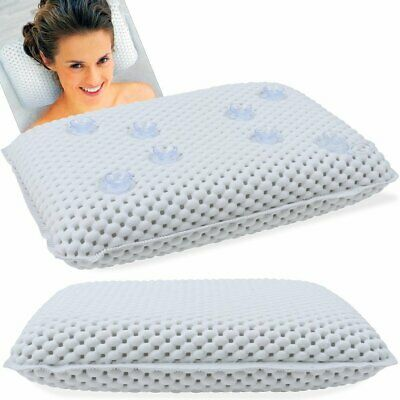 Luxury Bath Spa Pillow Cushioned Spongy Relaxing Bathtub Cushion 8 Suction Cups