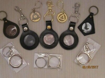 Alcoholics Anonymous, Key ring, medallion holder, recovery program