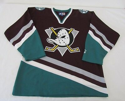 MIGHTY DUCKS Of Anaheim NHL Official Jersey Vintage TOP Size M ExcCon Ice Hockey